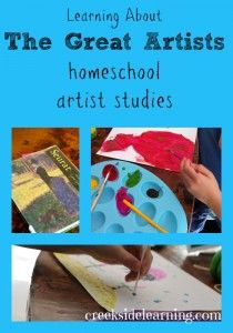 Learning About the Great Artists: Homeschool Artist Studies