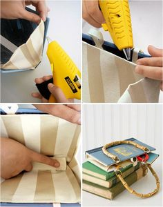 diy book cover purse with handles gift idea book lovers