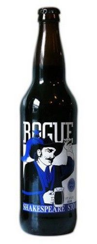 Cerveja Rogue Shakespeare Oatmeal Stout, estilo Oatmeal Stout, produzida por Rogue Ales Brewery, Estados Unidos. 6% ABV de álcool.