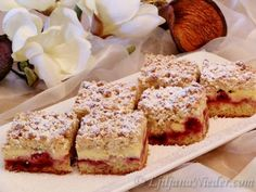 Germany pudding and pie with cherries