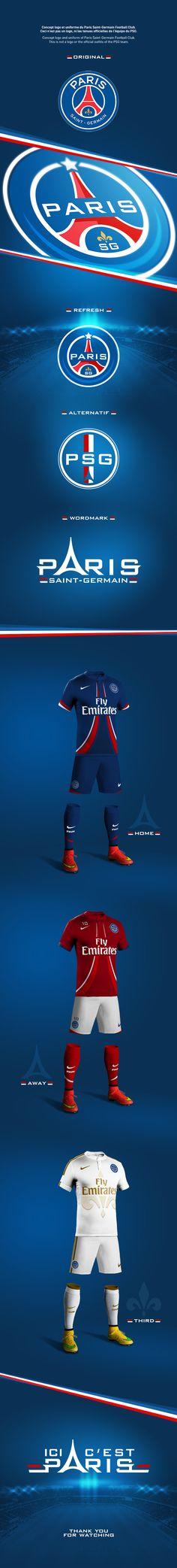 https://www.behance.net/gallery/21982613/Concept-rebrand-PSG-football-club