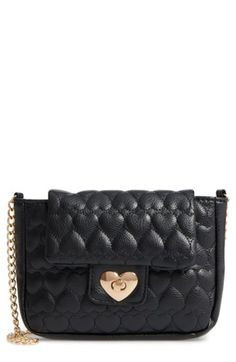 Free shipping and returns on Capelli of New York Quilted Heart Shoulder Bag (Girls) at Nordstrom.com. Allover heart quilting adds sweet style to a faux-leather shoulder bag that's an aspiring fashionista's must-have.