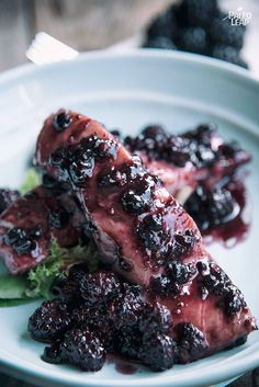 Salmon is one of the most versatile proteins - this recipe shows it off by topping it with homemade blackberry sauce.