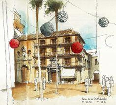 Málaga, Christmas decoration