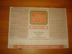 Ein DDR Tele Lotto Schein Blanko