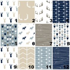 New to OrangeBlossom805 on Etsy: Crib Bedding Sets - tan navy grey - Rustic Nursery and Toddler Bedding - Woodland & Antlers Wood grain and Horns (29.00 USD)