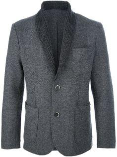 BARENA - knitted lapel blazer 1
