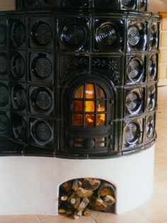 Handcrafted tile stoves by Akos Kaszap and Andras Cserepes at Kácsa Ceramics Manufactory.
