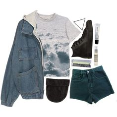 in the clouds by simpleandyoung on Polyvore featuring moda, Converse, H&M, Bobbi Brown Cosmetics, Le Labo and Symmetry