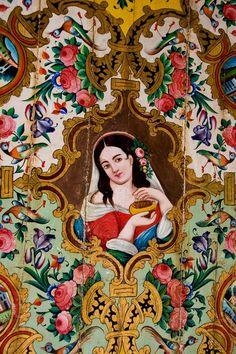 (Narengestan-e- Ghavam-Shiraz,Iran) Islamic Art Pattern, Pattern Art, Persian Pattern, Persian Motifs, Shiraz Iran, Persian Architecture, Middle Eastern Art, Persian Culture, Iranian Art
