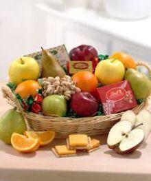 Fruit and Gourmet Basket by John Wolf Florist #savannah #GA