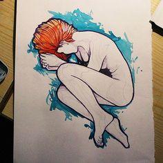 """""""Ya no sueño, reposo, descanso"""". Estoy subiendo a youtube algunos videos de como hago los dibujos. Tenéis el link en mi perfil si quereis echarle un ojo."""