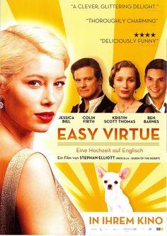 EASY VIRTUE - JESSICA BIEL - COLIN FIRTH - BEN BARNES - 2008 ORIG. FILMPOSTER A4
