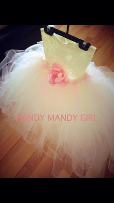 Powder pink baby pink- ballerina pink and ivory tutu with  ivory Lace handmade flower girl tutu dress-up to size 5T  on Etsy, $70.00