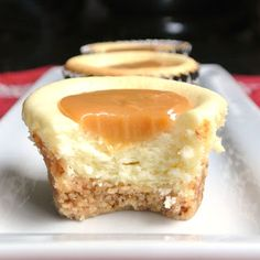 Gluten Free Caramel Cheesecakes--substitute artificial sugar and it becomes very low carb