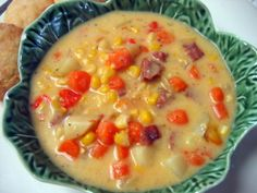 Mennonite Girls Can Cook: Farmer Sausage Corn Chowder Very simple, hearty, homemade soup. We all loved it! Ham Soup, Sausage Soup, Sausage Recipes, Casserole Recipes, Soup Recipes, Snack Recipes, Cooking Recipes, Recipies, Supper Recipes