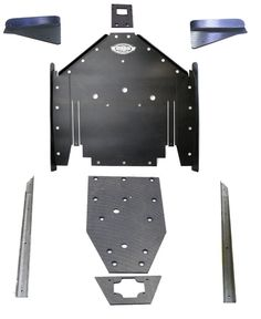 Polaris RZR XP 1000 UHMW rock gliders skid plate underbody SSS Off Road FULL KIT #POLARISRZR1000XP2seater