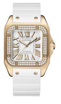 Cartier Santos 100 Rose Gold Diamond Men's Watch « Holiday Adds