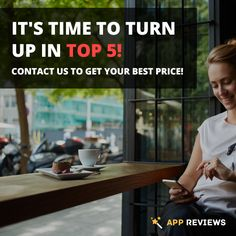 It's time to turn up in top 5! Contact us to get your best price! #appreviews #app #promotion #ios #android #mobile #mobilemarketing #appmarketing #appdevelopment #playmarket #appstore #users #mobileapps #reviews