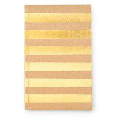 Sugar Paper Kraft & Gold Striped Journal