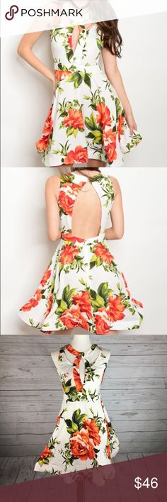 """Floral Mini Dress 