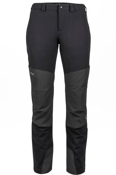 Add the trim-fitting Orion Pant to your big mountain kit – it's tailor-made for technical alpine pursuits. Water-repellent and super breathable, the pant has Marmot M3 softshell fabric with reinforced, articulated knees and scuff guard at hem for added durability. Zippered hand and back pockets secure essentials.