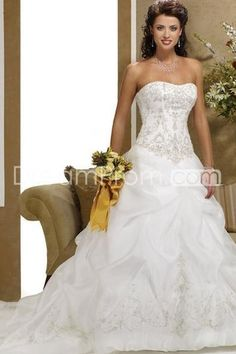 19409 pretty a lineprincess sweetheart sleeveless chapel organza bridal wedding dresses