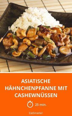 Asiatische Hähnchenpfanne mit Cashewnüssen - smarter - Zeit: 25 Min. | eatsmarter.de