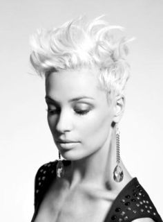 When I go back to short hair after weddings.  Cool idea for the style.