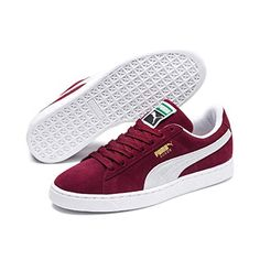 56c426b79589d Puma - Suede Classic - Baskets mode - Mixte Adulte - Rouge (Burgundy White