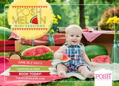 Watermelon Mini Sessions {Posh Melon Mini's-Gainesville, GA Photography}