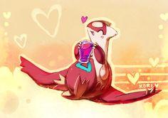 Grape juice by kori7hatsumine.deviantart.com on @DeviantArt. #Pokemon #Latias #fanart #GrapeJuice