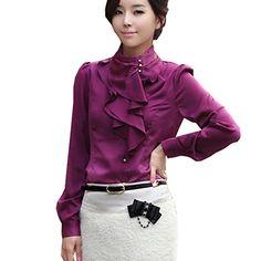 Partiss Women Long Sleeve Fashion OL Shirt