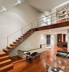 Mezzanine loft for study or library
