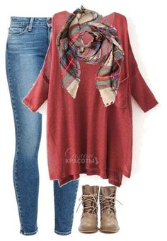 LOVE THE TOP [LENGTH& COLOR] WITH THIS GREAT AUTUMN SCARF!!