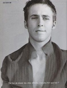 Ryan Gosling - I have recently decided I am in love with Ryan Gosling, OMG does he get any sexier (nice Chandler Bing impression)
