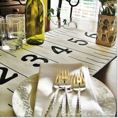 Country Living Inspired Ruler Table Runner