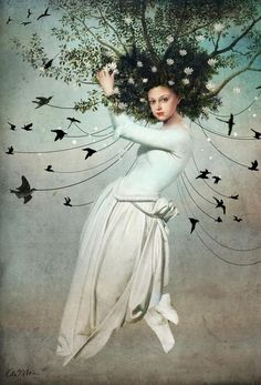 Fly With Me als Aluminium print door Catrin Welz-Stein | JUNIQE