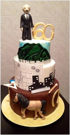 60' birthday cake