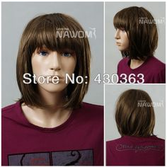 Free Shipping Bob Wig with Bangs Short Straight Wig Children Wig Hair