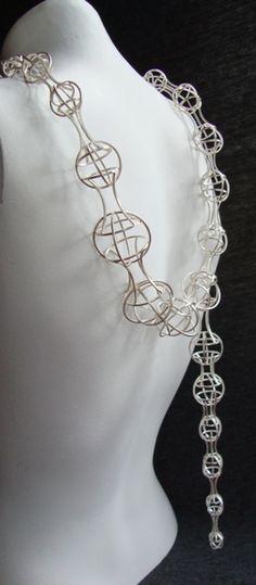 Gina Pankowski, Architectonic view 1, sterling silver, fabricated,  2010