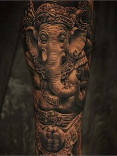 Elephant Tattoo by Miguel Ochoa Elephant Tattoo Design, Elephant Tattoos, Ganesh Tattoo, Tattoo Ideas, Tattoo Designs, Elephants Never Forget, New Tattoos, Tatoos, Best Memories