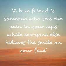True friend...
