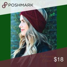 🆕Coming Soon! Knit Crochet Headband A Cold Weather Essential. Diamond Stitch Knit Headband. BURGUNDY. 100% Acrylic. New from Vendor. Comment to be notified when available. February Closet Accessories