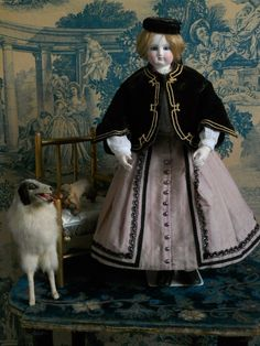 ~~~ Superb Early French bisque Poupee with Wooden Articulated Body~~~ from whendreamscometrue on Ruby Lane
