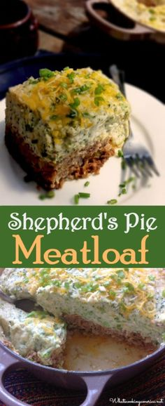 Sometimes nothing can beat a good old meat and potatoes dinner that we imagine grandma would fix, such as this delicious Shepherd's Pie Meatloaf Recipe. Best Meatloaf, Meatloaf Recipes, Meatloaf Pie Recipe, Cheese Recipes, Cooking Recipes, Amish Recipes, Game Recipes, Dutch Recipes, French Recipes