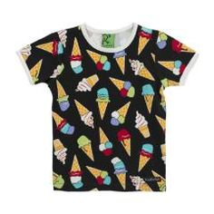 Ice Cream T Shirt - Black