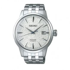 Seiko Presage Fuyugeshiki cocktail automatic gents stainless steel watch on bracelet with date. Seiko Presage, Casio Edifice, Stainless Steel Bracelet, Stainless Steel Watch, Sport Watches, Watches For Men, Casio Protrek, Monochrome Watches, Limited Edition Watches