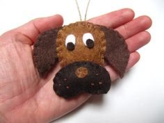 Personalized Dog Christmas Ornament Puppy Dog by NatesMommyMadeIt Dog Christmas Ornaments, Felt Ornaments, Christmas Dog, Christmas Ideas, Dog Varieties, Felt Dogs, Diy Sewing Projects, Diy For Kids, Crafty