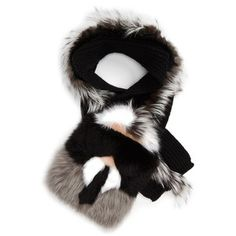 Women's Fendi 'Karlito' Genuine Fox, Genuine Mink & Genuine Nutria Fur Scarf